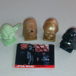 Topps Star wars Candy containers full set from 90's still full
